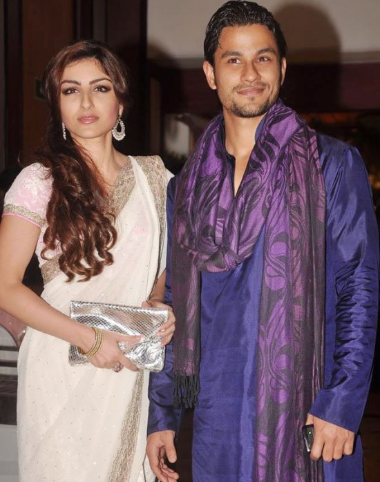 soha ali khan and kunal khemu in ritesh and genelia sangeet ceremony