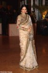 sridevi in a beige embroidered saree at ritesh genelia reception party