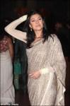 sushmita sen in a saree at ritesh genelia wedding reception party