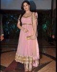 zarine khan in a pink anarkali salwar kameez at ritesh and genelia sangeet ceremony
