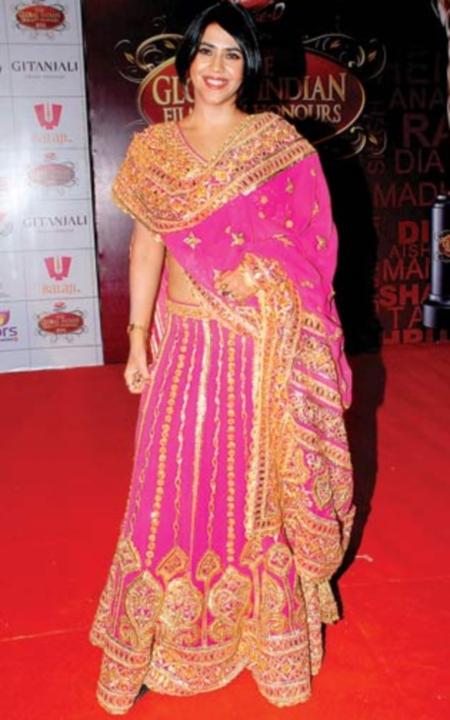 Ekta Kapoor in a bollywood award show