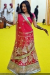reema sen wearing a designer lehenga choli at her wedding party