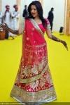 reema sen wearing a designer lehenga choli at her wedding party