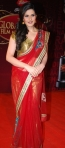 Zarine Khan in a bollywood award show