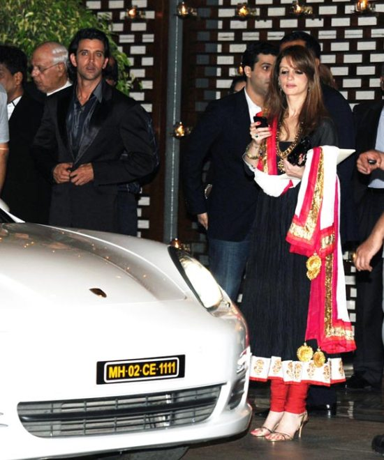 hrithik roshan with suzane at ambani house