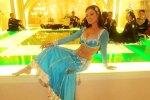maryam zakaria in a blue a line lehenga choli