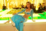maryam zakaria in a blue a line lehenga choli