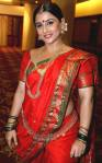 Vidya Balan in a starking red saree