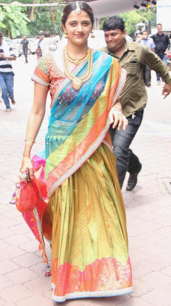 ahana deol in a traditional lehenga