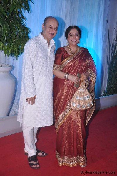 Anupam Kher with wife Kirron Kher