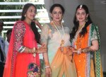 Esha and sis Ahana with mother their Hema Malini