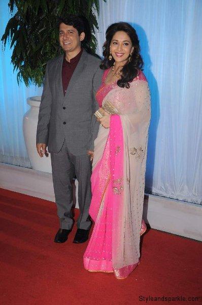 madhuri dikshit with husband