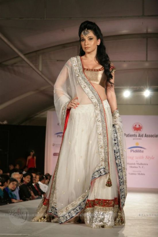 a model walking the ramp