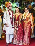 The newly wed with Hema Malini