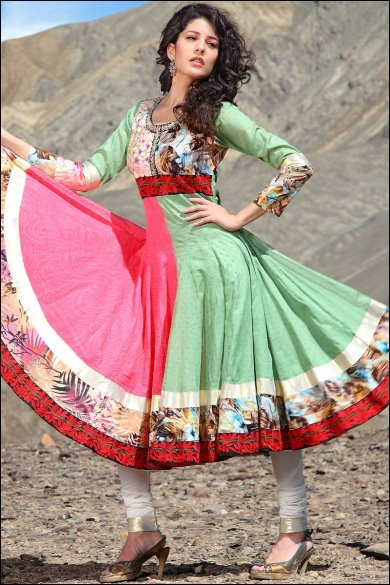 embroidered anarkali salwar. sku code-158SL4928