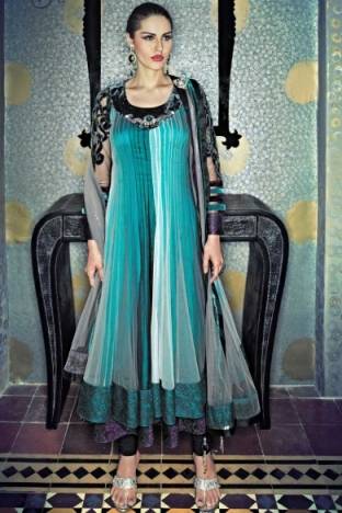 EMBROIDERED ANARKALI CHURIDAR KAMEEZ. sku code-137SL131