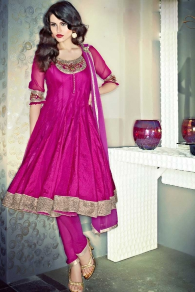 EMBROIDERED ANARKALI CHURIDAR KAMEEZ. sku code-137SL132