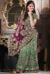 EMBROIDERED LEHENGA STYLE SAREE. sku code-85SA3514