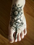 Flower Mehndi Design on Foot