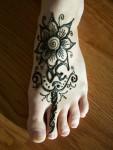 Flower Mehndi Design on Foot