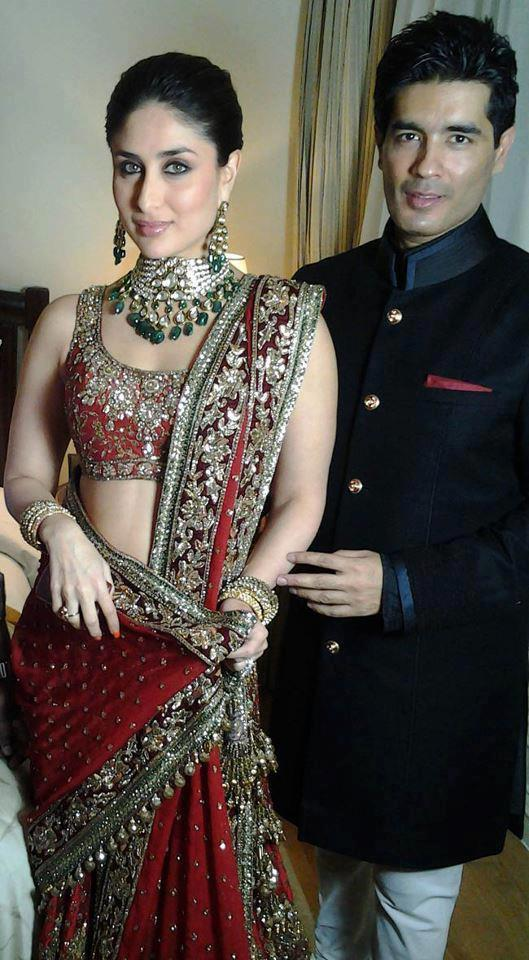KAREENA AND MANISH MALHOTRA IN HER SANGEET CEREMONY