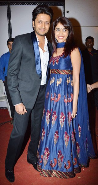 Genelia with husband Ritiesh