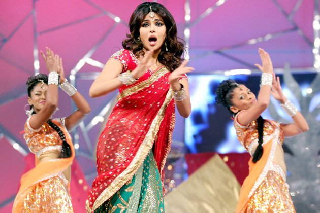 priyanka chopra performing in a gorgeous lehenga