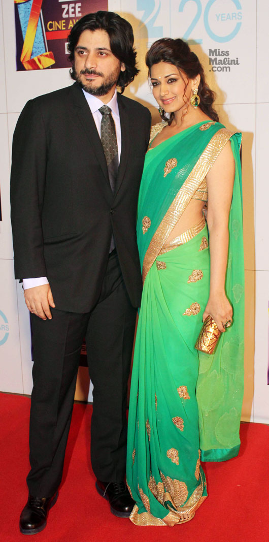 SONALI BENDRE WITH HUSBAND GOLDIE BHEL