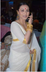 Rani Mukherjee wearing a Settu saree with heavy golden jewelry
