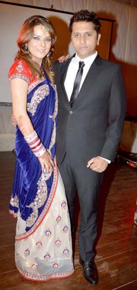 Udita & Mohit at their wedding reception
