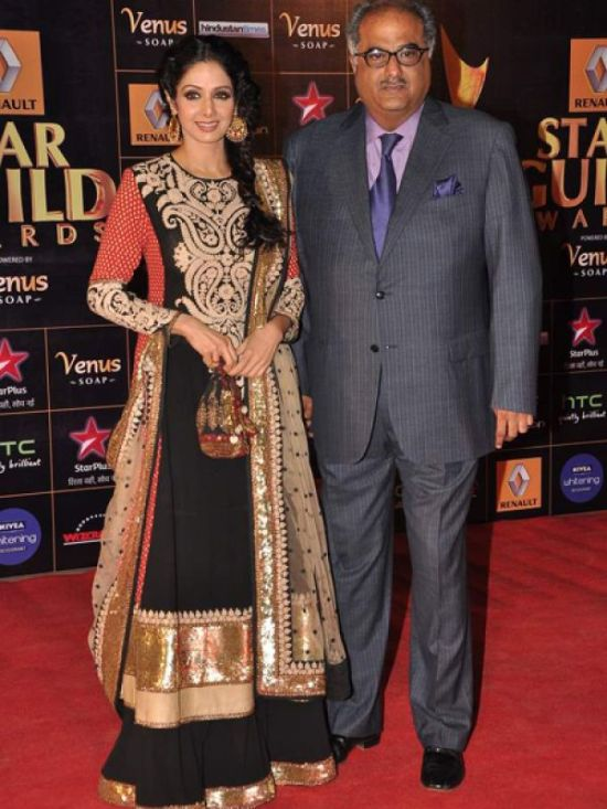 Sridevi & Boney Kapoor at Star Guild Awards 2013