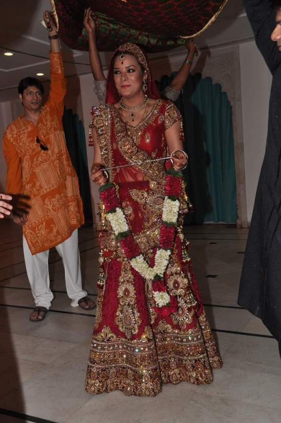 The Bride in her red Trousseau