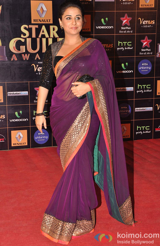 Vidya Balan Star Guild Awards 2013