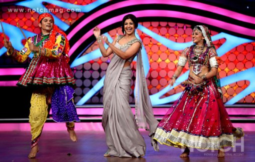 Shilpa Shetty on the sets of Nach Baliye