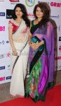 Bhagyashree shimmering in a white saree