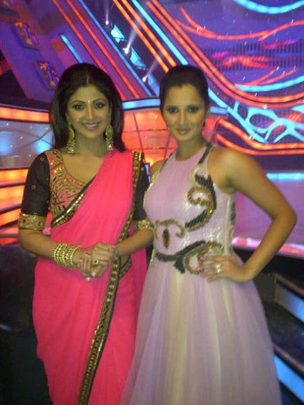 Shilpa with Tennis star Sania Mirza
