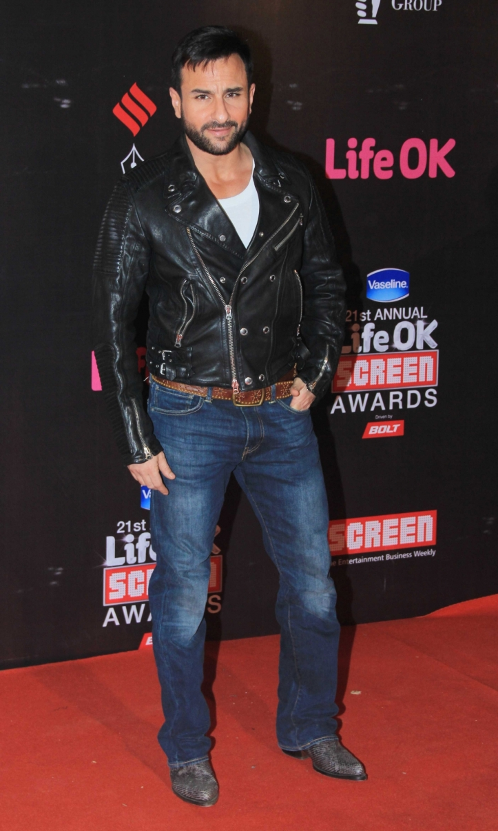 Saif Ali Khan in Life Ok Screen Awards 2015