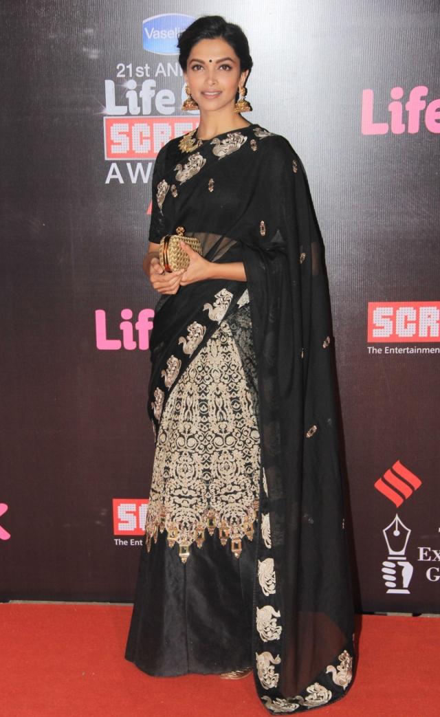 Deepika Padukone  in Life Ok Screen Awards 2015