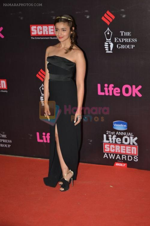 Alia Bhatt at Life Ok Screen Awards