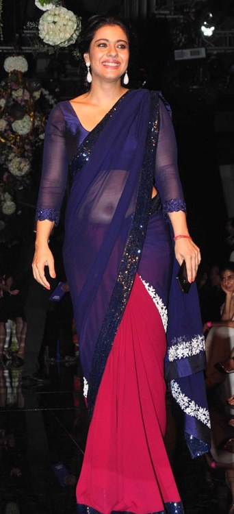 Kajol in Navel saree