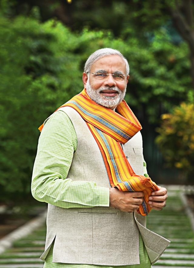 Top 5 Indian Politician who love Khadi Dresses | Designer ... Narendra Modi Standing Photo