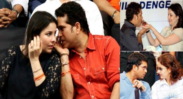 Sachin love with wife Anjali