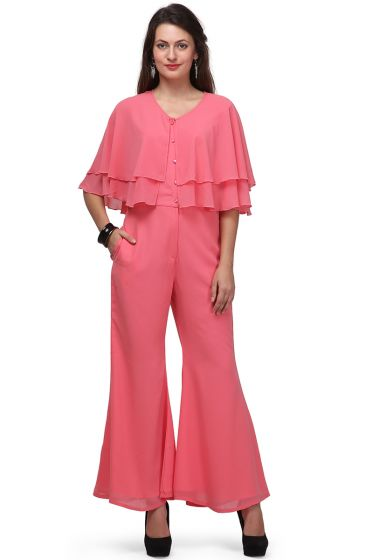 pink jump suit
