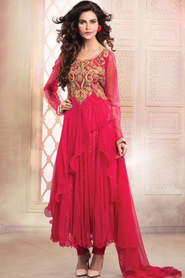 Red Anarkali Suits