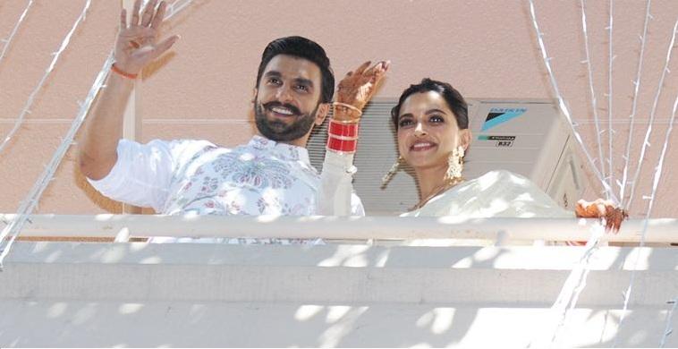 Ranveer & Deepika's Post-Marriage Look In Salwar & Bandgala From SabyasachiCouture