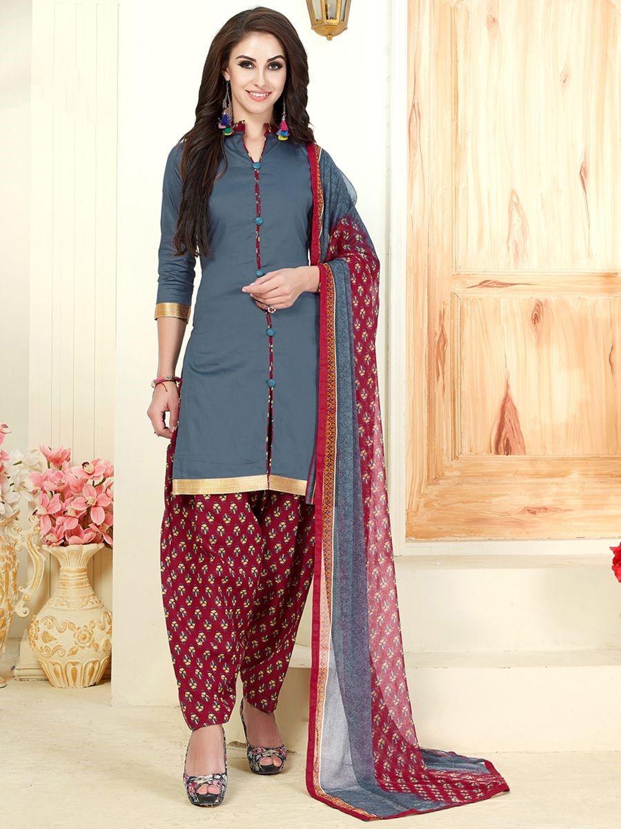 Salwar Kameez with Collar Style