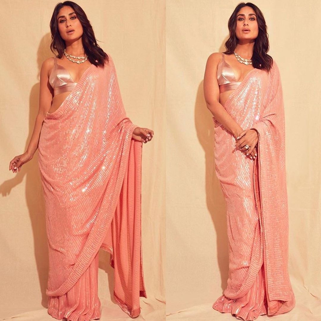 Kareena Kapoor's Peach Pink Saree