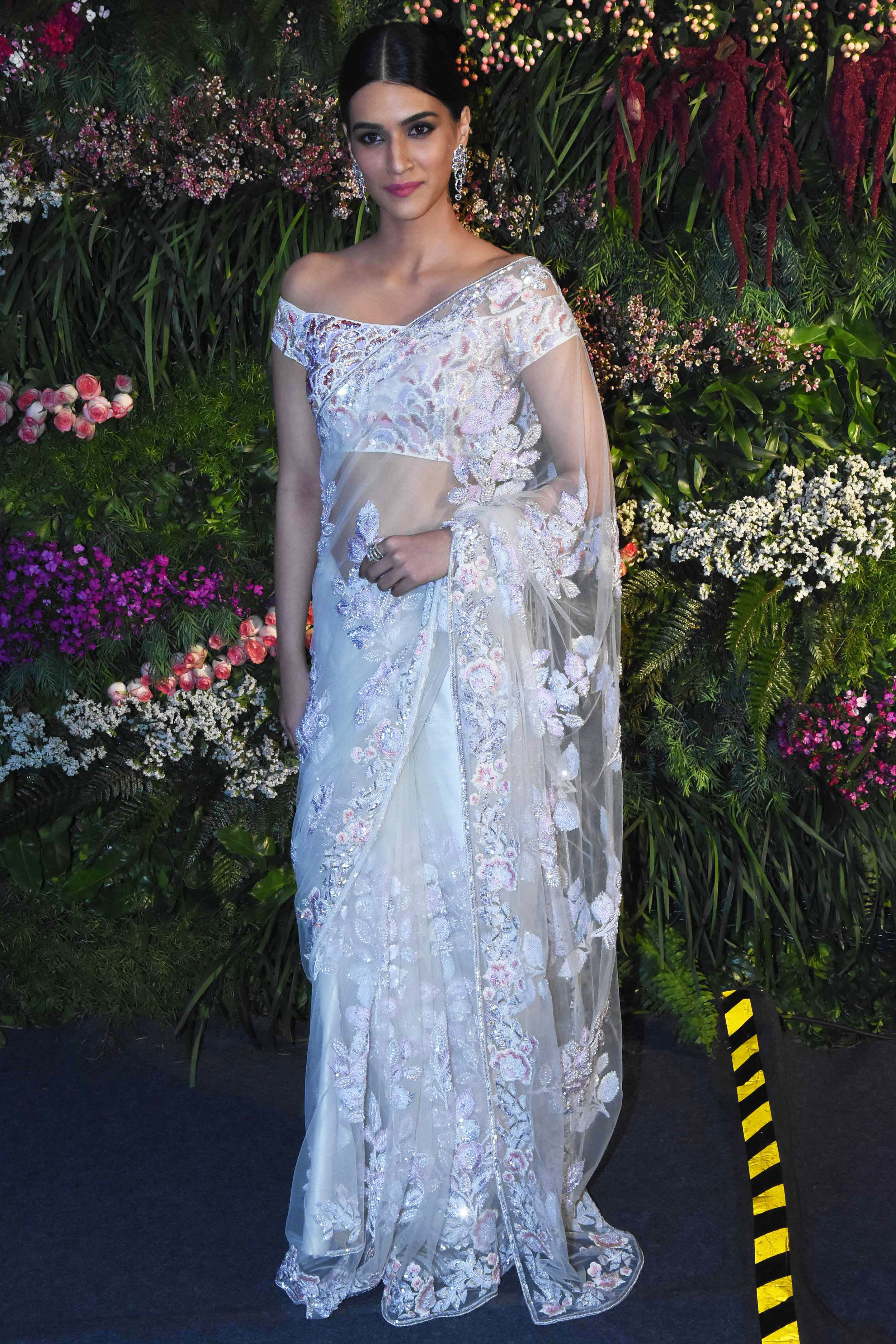 Kriti Sanon In Ivory White Saree