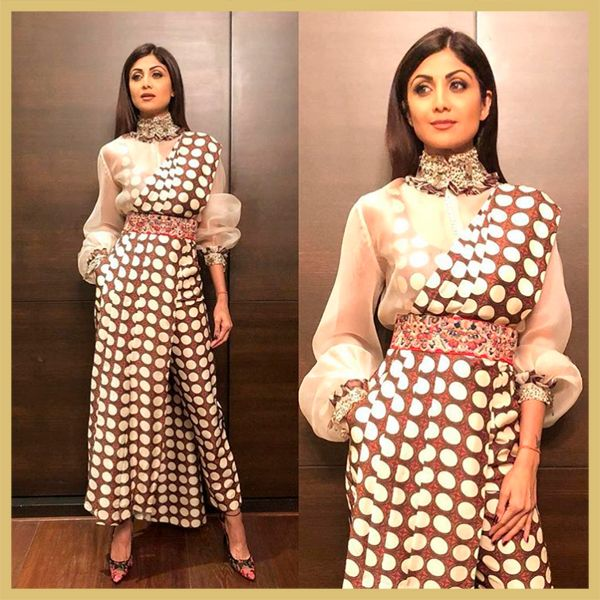 Shilpa Shetty's Polka Dotted Saree